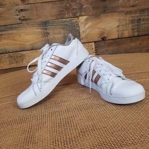 Adidas Baseline White & Gold Leather Shoes